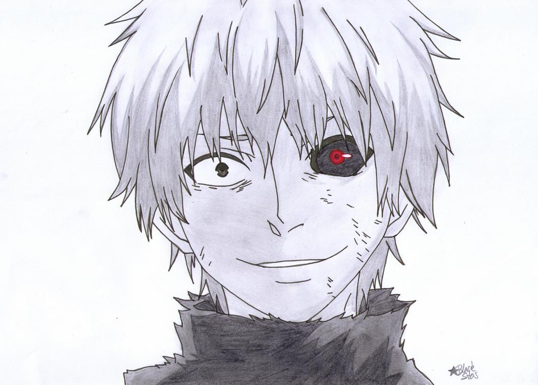Ken Kaneki (Tokyo Ghoul) by BlackStarLGArt