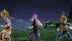 Esther SSJ Goku And SSJ Vegeta