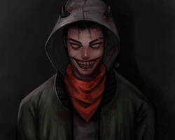creepy laughter by Gatokumn