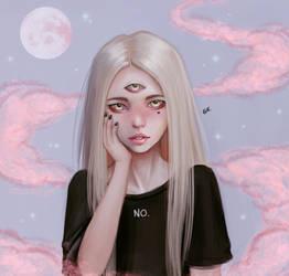 Alien girl by Gatokumn