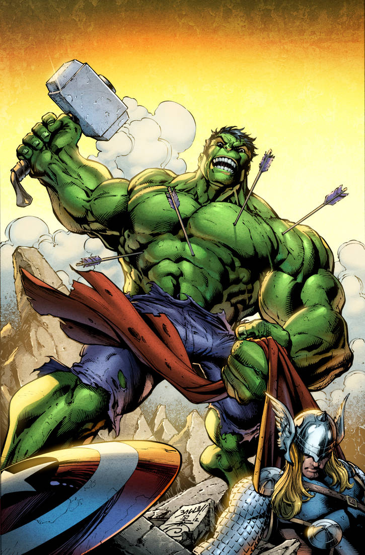 Coloring Hulk just for fun by TattoDurden