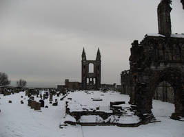 St Andrews Cathedral in Snow by Weasley-Detectives