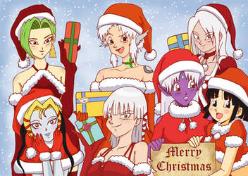 DBZ: Merry Christmas DOF Gals by Weasley-Detectives
