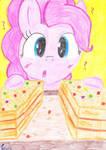 Alguien se comio mi turron  (Pinkie Pie) by AutumnLeaf1230