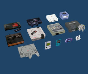 13 Low-Poly Video Game Consoles