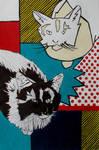 Lichtenstein Cats by Sophillia