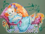 Mucha Kitty by Sophillia