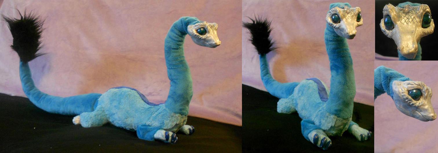 Posable Fantasy Dragon Sculpture by Sophillia