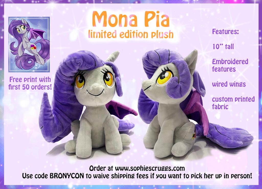Mona Pia Plush Preorder! by Sophillia