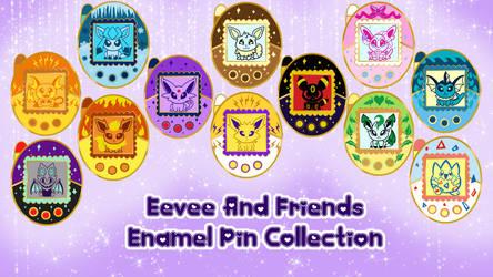 Eevee And Friends Enamel Pin Set