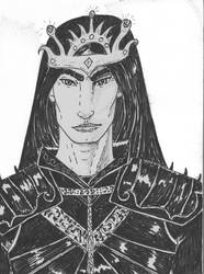 Morgoth in armour by Nuredhel