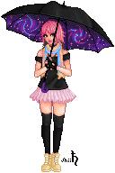 Galaxy Umbrella by shiicolate