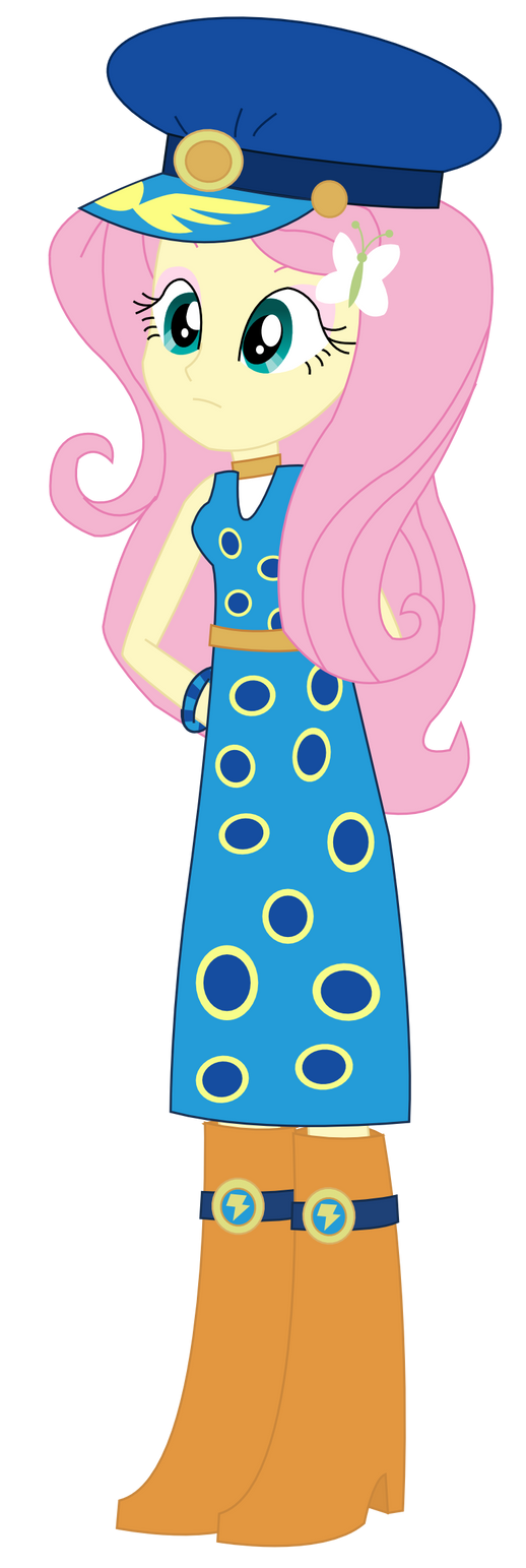 Equestria Girls Fluttershy  Admiral Fairy Flight  by SketchMCreations
