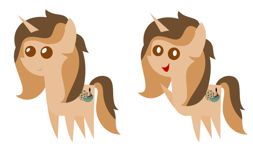 [C] Pointy Pony - Chocolate Swirl by SketchMCreations
