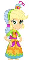Commission - Smoothie Shop Applejack by SketchMCreations