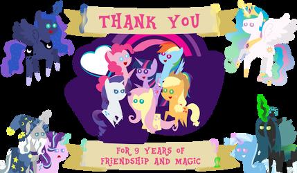 Nine Years of Friendship