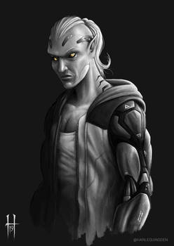 Shadowrun Elf Runner (Street Samurai)