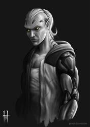 Shadowrun Elf Runner (Street Samurai) by HarlequinsDen