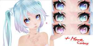 Eye Texture Pack (In different colors) Download~!