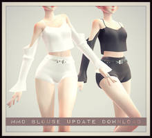 [MMD] Blouse And Shorts DOWNLOAD! + UPDATED 1.1