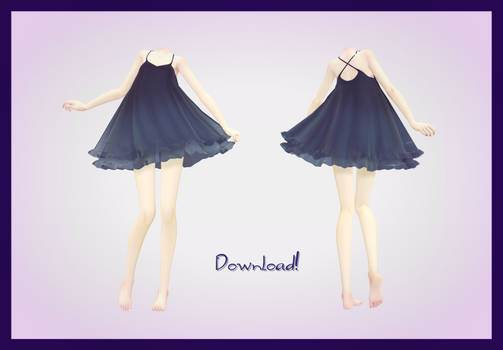 [MMD] Cute Black Dress DOWNLOAD~ (FIXED)