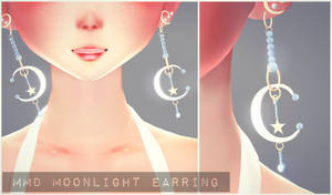 [MMD] Moonlight Earrings Download!