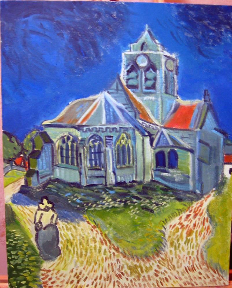 Van Gogh Church by IK84 on DeviantArt