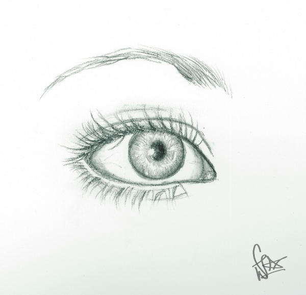 Eye art assignment by Dreamerwhit95