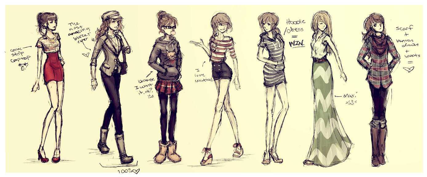 Outfit Sketch Spazz by DreamerWhit on DeviantArt
