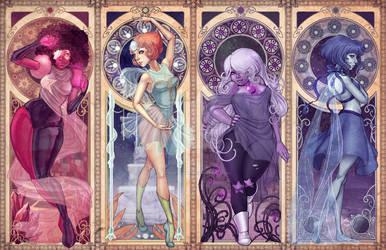 Steven Universe Art Nouveau by DreamerWhit