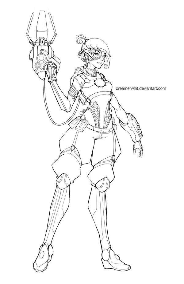 Wip overwatch character project by dreamerwhit on deviantart for Overwatch genji coloring pages