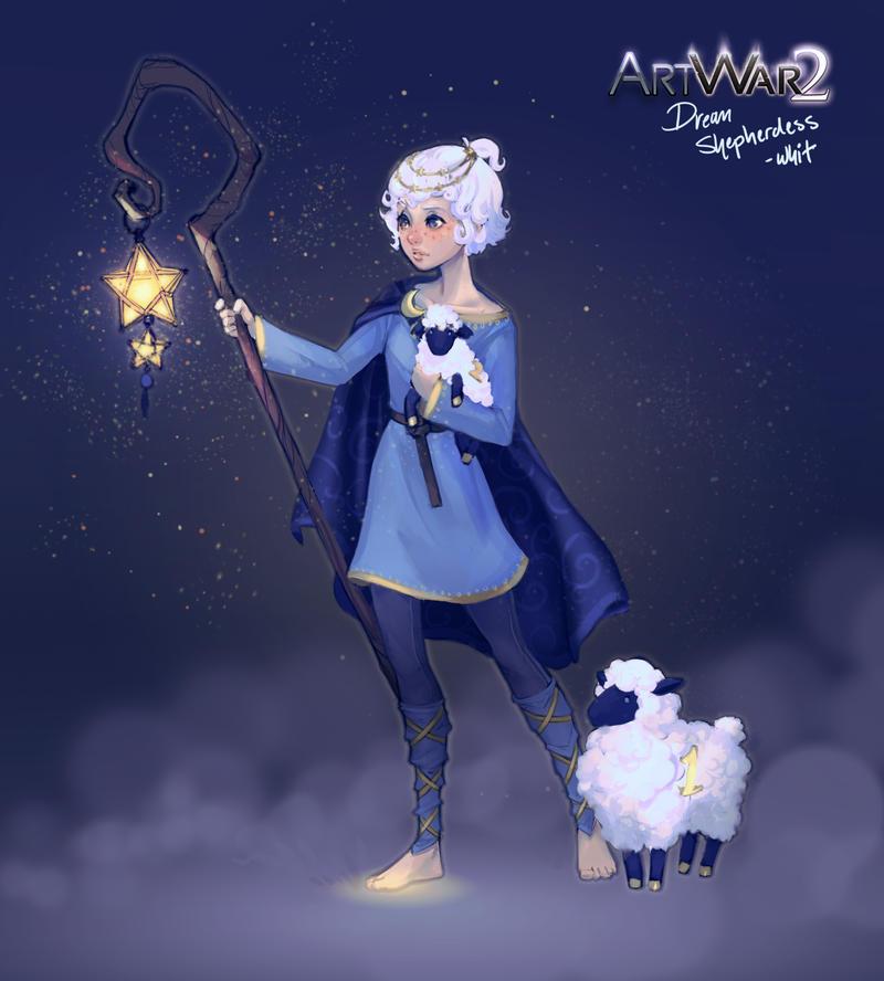 Dream Shepherd - character design by DreamerWhit