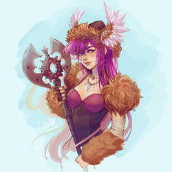 #Drawthisinyourstyle Rosa the Magical Viking girl