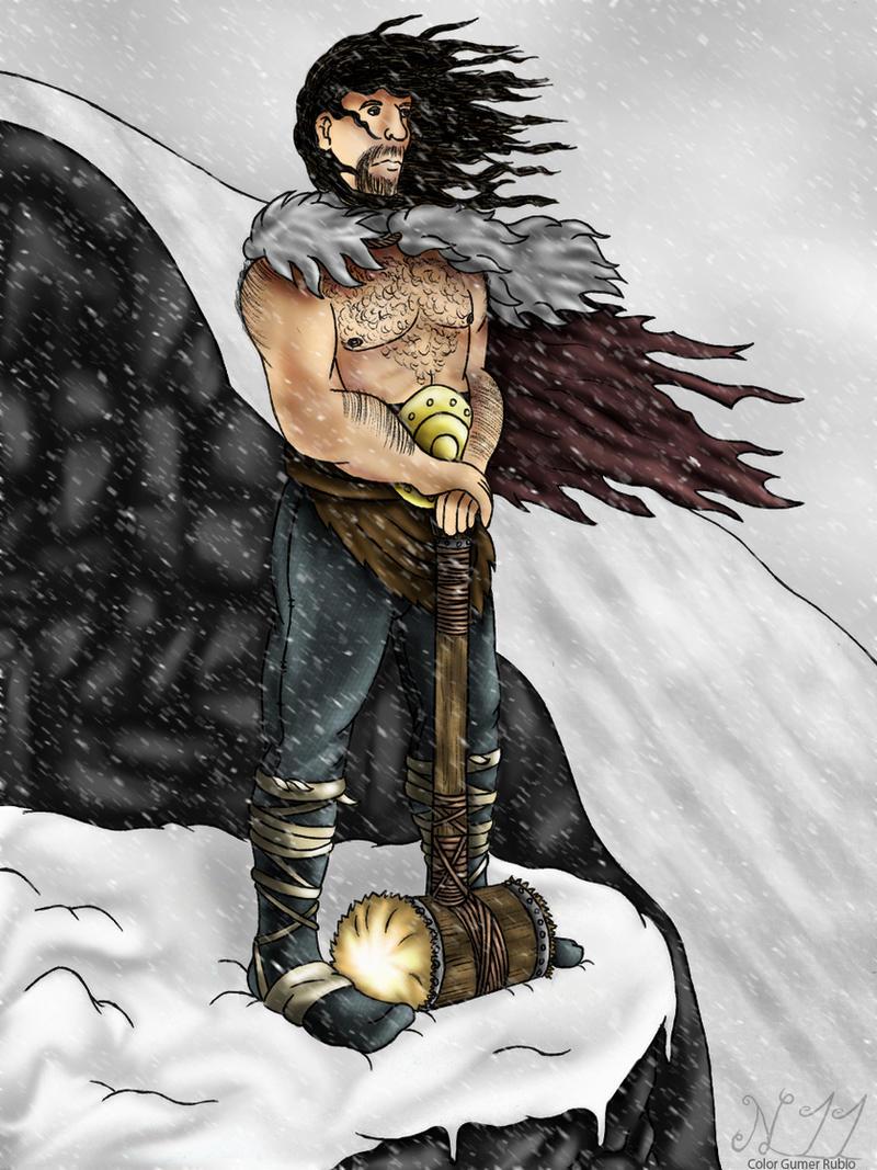LEA - Otto the barbarian by Luray EN COLOR by gumer-rubio