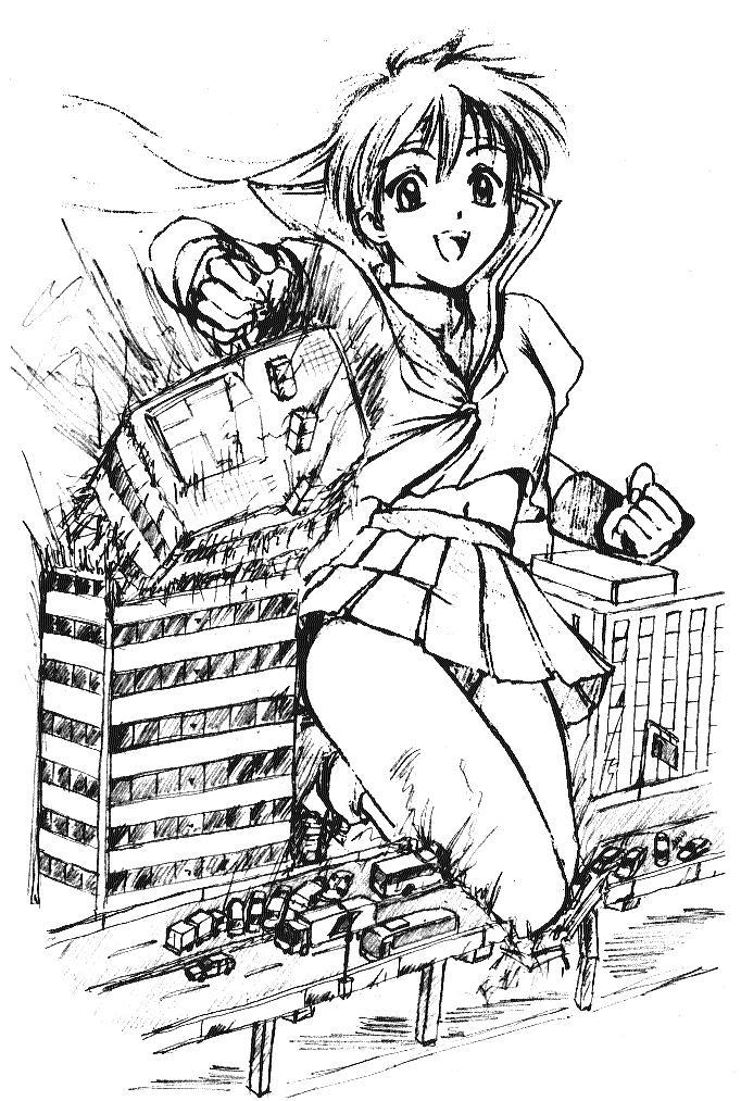 Giantess Sakura by ticoticotac