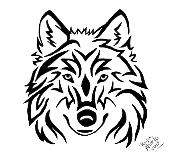 Tribal Wolf Head Tattoo by RayaHinato on DeviantArt
