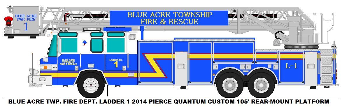 blue acre twp fire dept ladder 1 by misterpsychopath3001