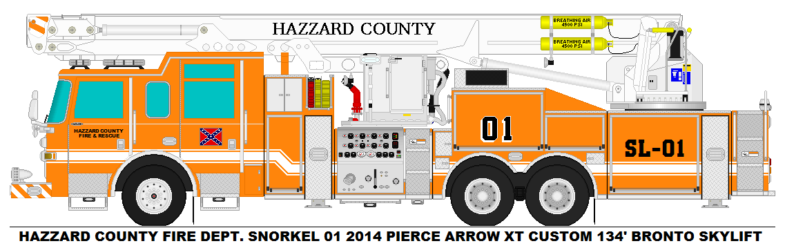 Hazzard County Fire Dept. Snorkel 01 by MisterPSYCHOPATH3001
