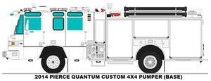 Pierce Quantum 4x4 pumper base