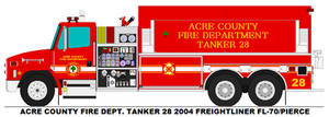 Acre County Fire Dept. Tanker 28