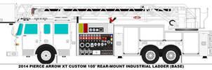 Pierce Arrow XT 105' RM Industrial Ladder base