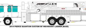 Pierce Quantum 95ft MM Ladder base