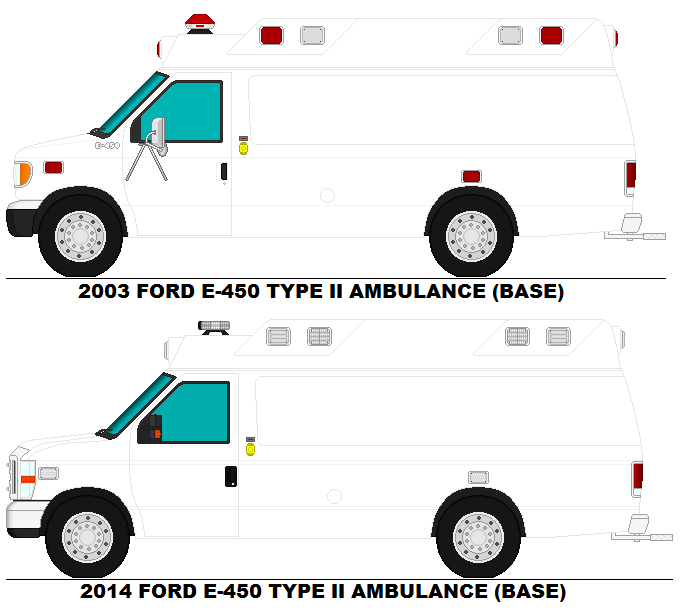 Ford E-450 Type 2 ambulance bases by MisterPSYCHOPATH3001 on