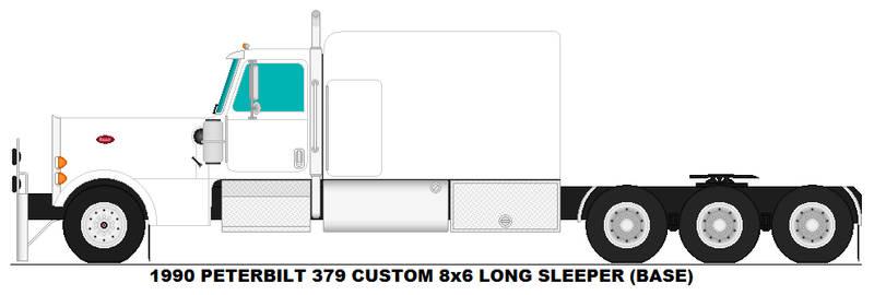 Peterbilt 379 8x6 Long Sleeper