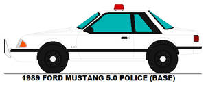 Ford Mustang 5.0 Police base
