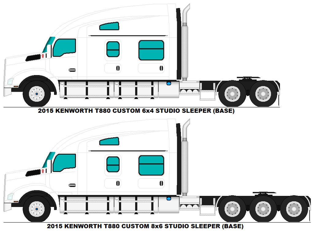 Kenworth T880 Studio Sleeper bases by MisterPSYCHOPATH3001
