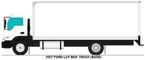 Ford LCF box truck base