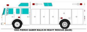1993 Pierce Saber Walk-in Heavy Rescue base