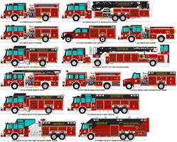 Psychopine City Fire Rescue trucks