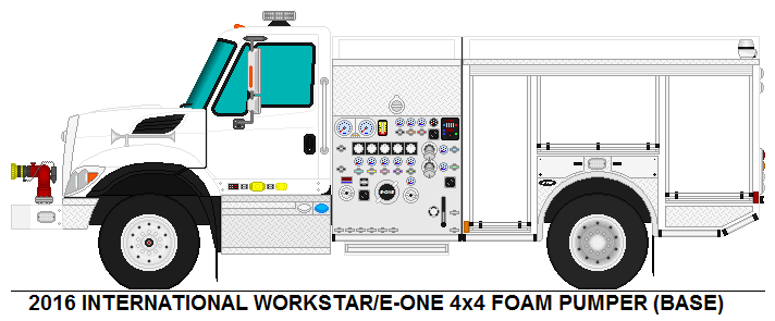 International Workstar E ONE Foam Pumper Base 630244815 on Fire Truck Coloring Pages